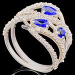 Серебряное кольцо 925 пробы с фианитами арт. 685к