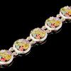 Серебряный браслет с фианитами арт. 395б
