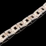 Серебряный браслет с золотыми вставками арт. 183б