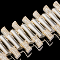 Серебряный браслет с фианитами арт. 624б