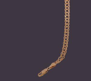 Серебряный браслет 925 пробы позолоченный 6Р/100бз