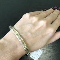 """Серебряный браслет 925 пробы с золотыми вставками  """"Рим мини"""""""