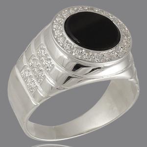 Перстень мужской из серебра 925 пробы арт. 272к