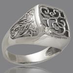 Перстень мужской из серебра 925 пробы арт. 284к