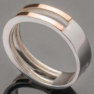 Серебряное обручальное кольцо арт. 330/1к