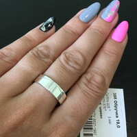 Серебряное обручальное кольцо с фианитами арт. 386к
