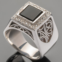 Перстень мужской из серебра 925 пробы арт. 144к