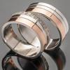 Серебряное обручальное кольцо с золотом арт. 276к