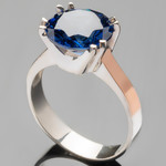 Кольцо серебряное с золотыми вставками 925 пробы арт. 295/1к