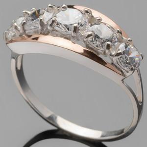 Серебряное кольцо 925 пробы с золотом арт. 364к