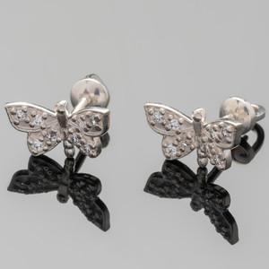 Серебряные серьги 925 пробы с фианитами арт. 369с