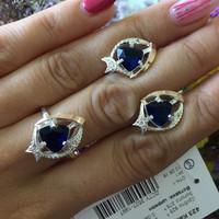 Серебряное кольцо 925 пробы с золотом арт. 423к
