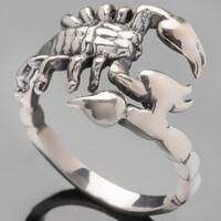 Серебряное кольцо Скорпион  арт. 410к