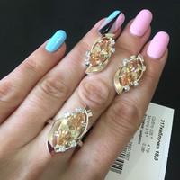 Серебряное кольцо 925 пробы с золотом арт. 317к