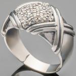 Серебряное кольцо 925 пробы с фианитами арт. 477к