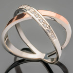 Серебряное кольцо 925 пробы с золотом арт. 454к