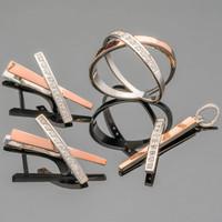 Серебряные серьги 925 пробы с золотыми вставками арт. 454с