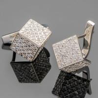 Серебряные серьги 925 пробы с фианитами арт. 428с