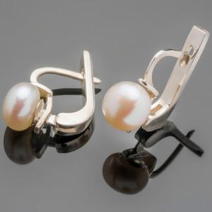 Серебряные серьги с жемчугом арт. 431с