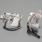 Серебряные серьги 925 пробы с фианитами арт. 425с