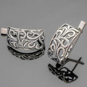 Серебряные серьги 925 пробы  арт. 435с