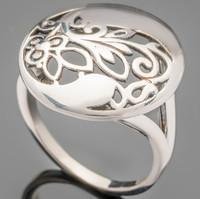 Серебряное кольцо с узором 925 пробы  арт. 442к