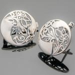 Серебряные серьги с узором 925 пробы  арт. 442с