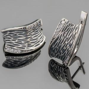 Серебряные серьги 925 пробы  арт. 443с