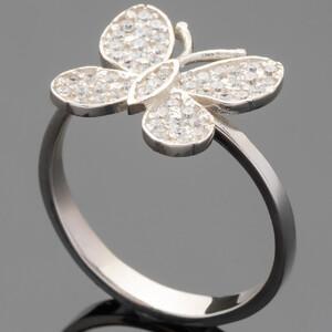 Серебряное кольцо 925 пробы с фианитами арт. 409к