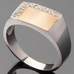 Перстень мужской из серебра 925 пробы арт. 470/1к