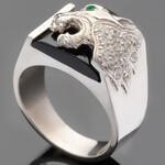 Перстень мужской из серебра 925 пробы арт. 472к
