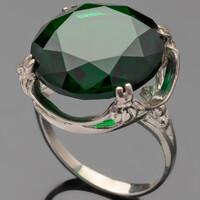 Серебряное кольцо 925 пробы с фианитами арт. 484к