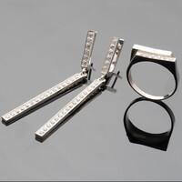 Серебряное кольцо 925 пробы арт. 485/1к