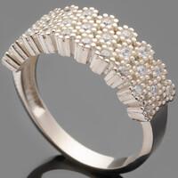 Серебряное кольцо 925 пробы с фианитами арт. 510к