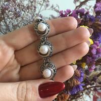 Серебряный браслет с жемчугом арт. 490б