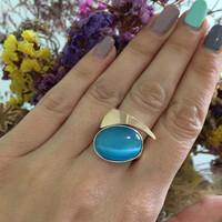 Серебряное кольцо 925 пробы с кабошоном арт. 474к