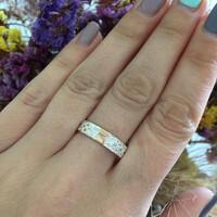 Серебряное обручальное кольцо с золотом арт. 475/1к