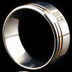 Серебряное обручальное кольцо с золотом арт. 70/61к