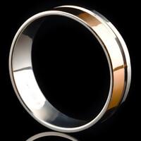 Серебряное обручальное кольцо с золотом арт. 60/56к
