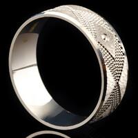Серебряное обручальное кольцо арт. 60/42к