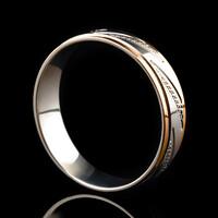 Серебряное обручальное кольцо с золотом арт. 60/39к