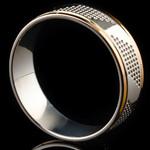 Серебряное обручальное кольцо с золотом арт. 60/37к