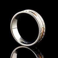 Серебряное обручальное кольцо с золотом арт. 60/31к