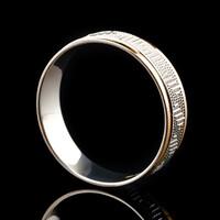 Серебряное обручальное кольцо с золотом арт. 60/30к