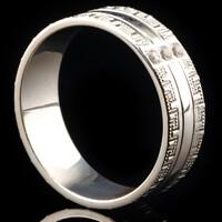 Серебряное обручальное кольцо арт. 60/23к