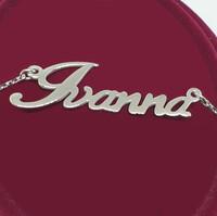 Серебряное колье с именем Ivanna