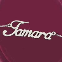 Серебряное колье с именем Tamara