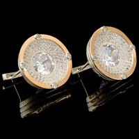 Набор серебряный 925 пробы с золотыми вставками арт. 437г