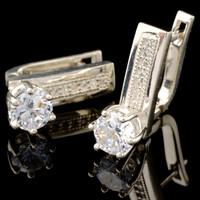 Серебряные серьги 925 пробы с фианитами арт. 511с