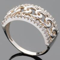Серебряное кольцо 925 пробы с фианитами арт. 514к